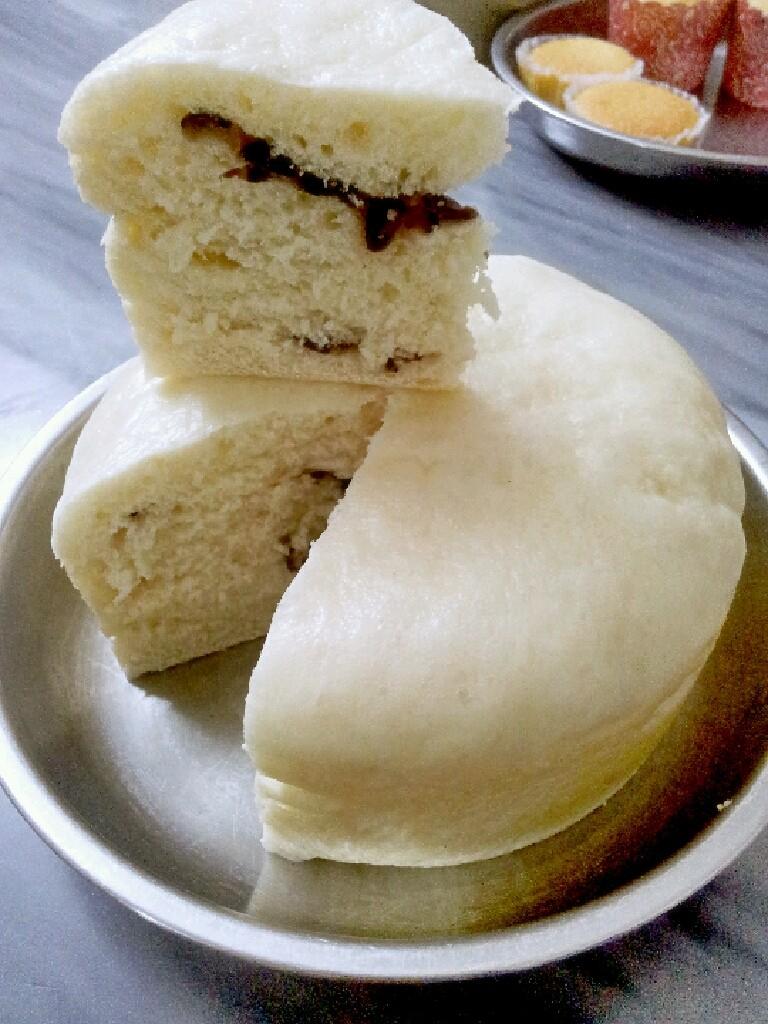 蜜豆牛奶蒸糕