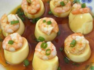 虾仁蒸豆腐
