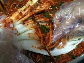 辣白菜,如图每片白菜叶都涂抹均匀酱