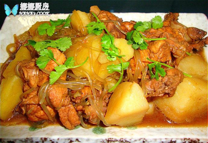 鸡架土豆炖粉条