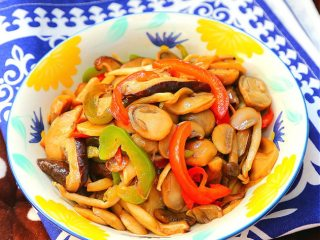 蚝油炒菌菇