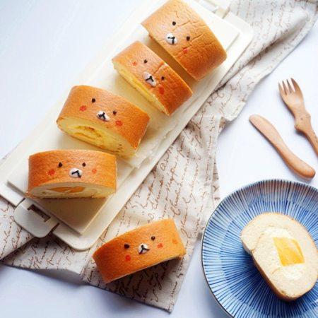 芒果烫面蛋糕卷