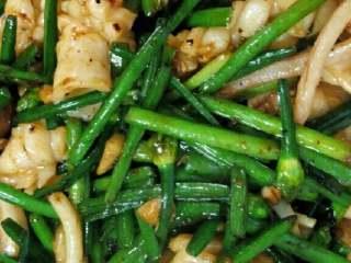 鱿鱼炒韭菜花,成品