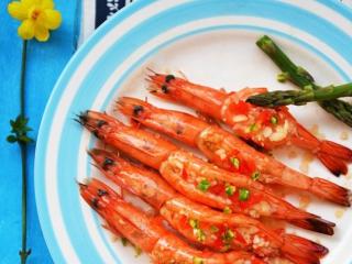 芦笋蒜蓉烤虾