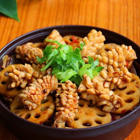 鱿鱼藕片麻辣香锅