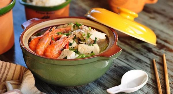 鱼头鲜虾豆腐汤