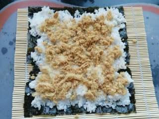 ≈肉松寿司≈,撒上肉松