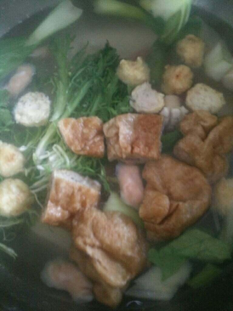 温馨火锅涮菜