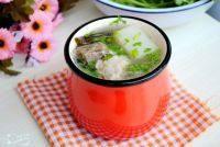 萝卜海带排骨汤,喝之前,可以撒上少量香菜