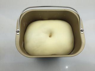 蜜豆小面包,静置醒发至2倍大