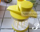 奶油芋泥,将剩余的淡奶油倒入多功能搅拌器中。