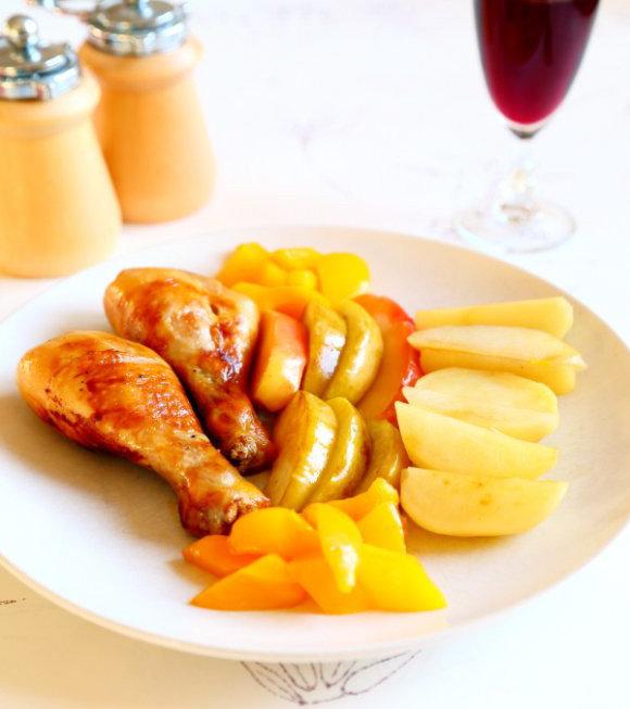 苹果柠香烤鸡腿