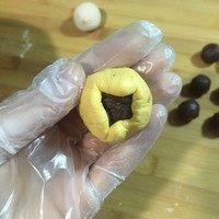南瓜豆沙汤圆,收口