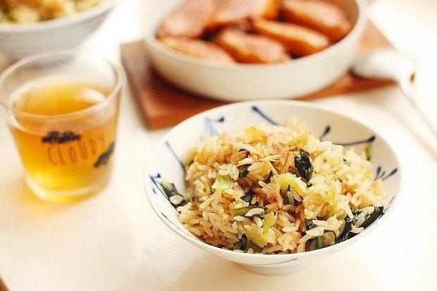 干贝青菜焖饭