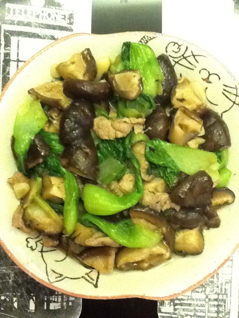 油菜蘑菇小炒肉