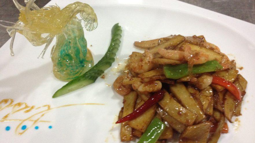 有机菌炒青虾干