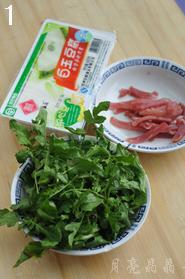 荠菜豆腐羹,准备原材料。
