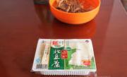 茶树菇烧豆腐 ,北豆腐一盒,切片备用。
