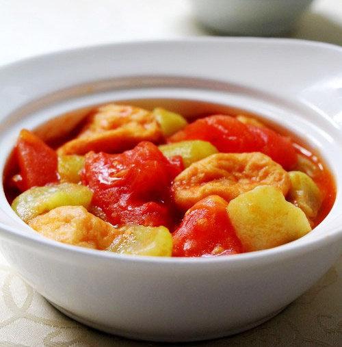 番茄丝瓜鱼面筋