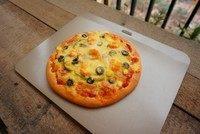 黑橄榄培根虾仁披萨,完成