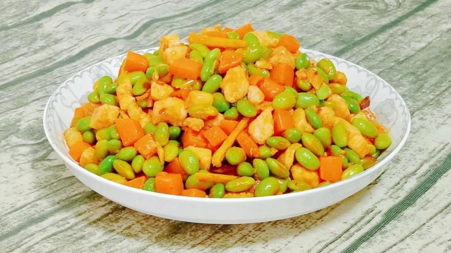 鸡丁炒毛豆米