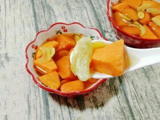 白果红薯糖水,成品图