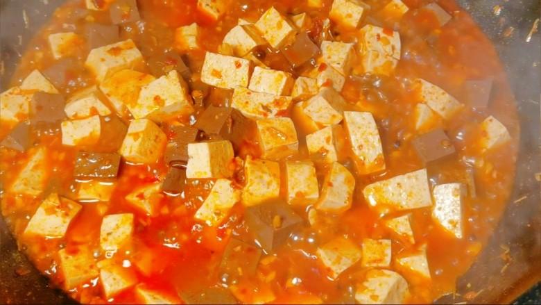 鲜嫩十足下饭神器鸭血豆腐,加入我们事先调好的水淀粉