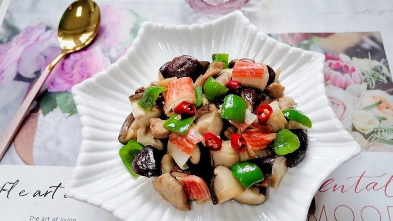 香菇肉片煲