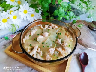 冬瓜瘦肉汤,成品图!