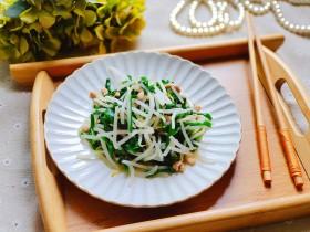 豆芽炒肉丝