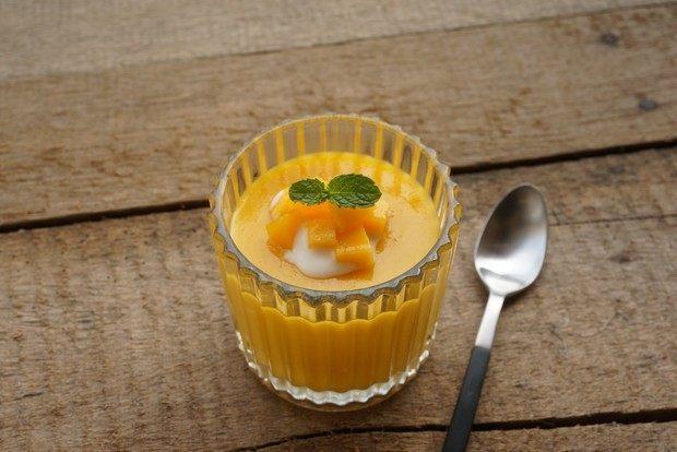 芒果酸奶布丁