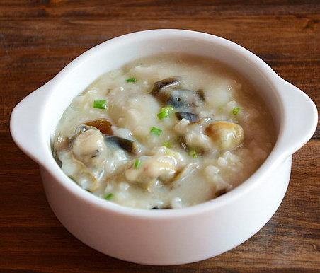 皮蛋牡蛎粥
