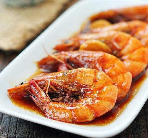 黄酒焖大虾