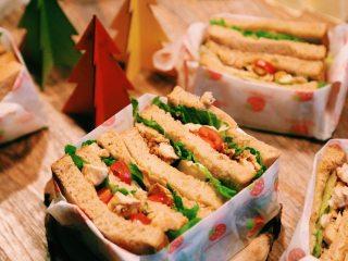 #春日野餐会#口水鸡三明治