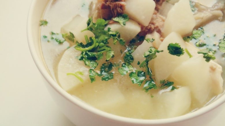 羊骨头白萝卜的汤