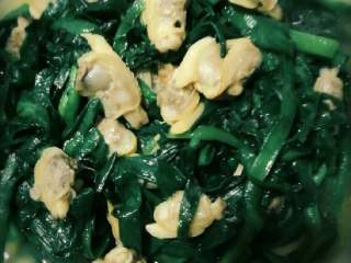 花蛤肉炒韭菜