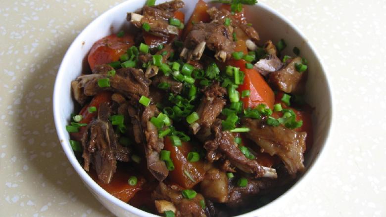 私房红焖羊肉,红焖羊肉的成品,很美味。