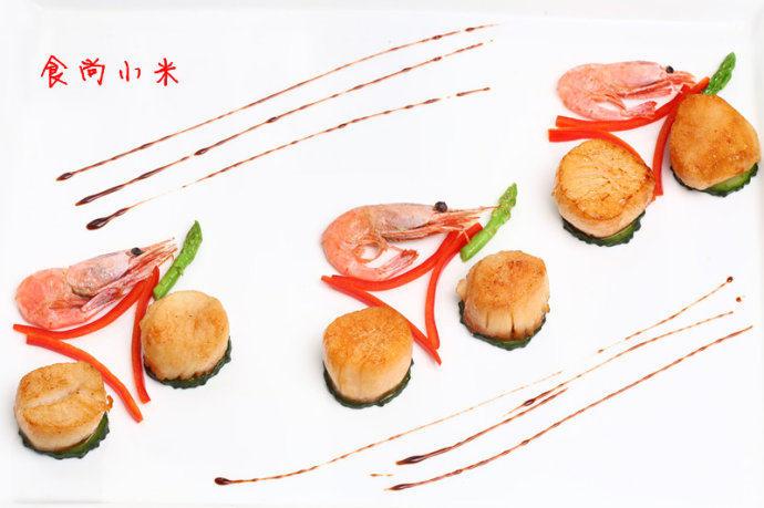 香煎带子北极虾