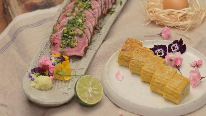 日式厚烧玉子&嫩煎小牛里脊