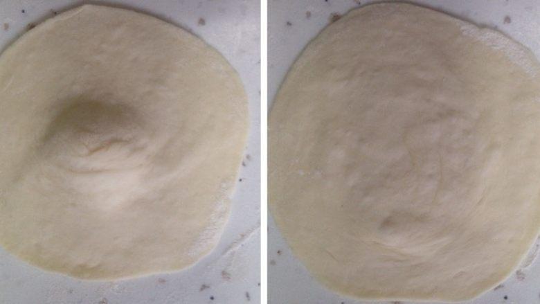 白白胖胖的肉馅大包子,将醒好的面团再次揉10分钟排空气体,然后分成50克一份(个人习惯),具体跟据个人习惯定。像擀饺子皮一样擀开面皮,记得中间厚,四边薄。