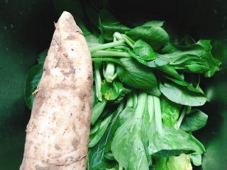 宝宝肉松(平底锅版),辅助食材:白萝卜、青菜