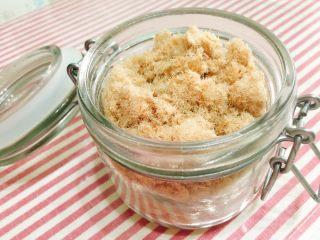 宝宝肉松(平底锅版),美味肉松做好啦,密封保存,可以吃上一阵了。