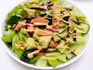 橄榄油千岛蔬菜沙拉#健康美颜餐#