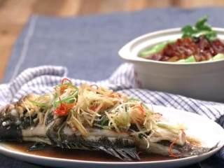 梅香咸鱼蒸鲈鱼&腊味双拼饭