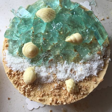 海洋芒果酸奶慕斯蛋糕