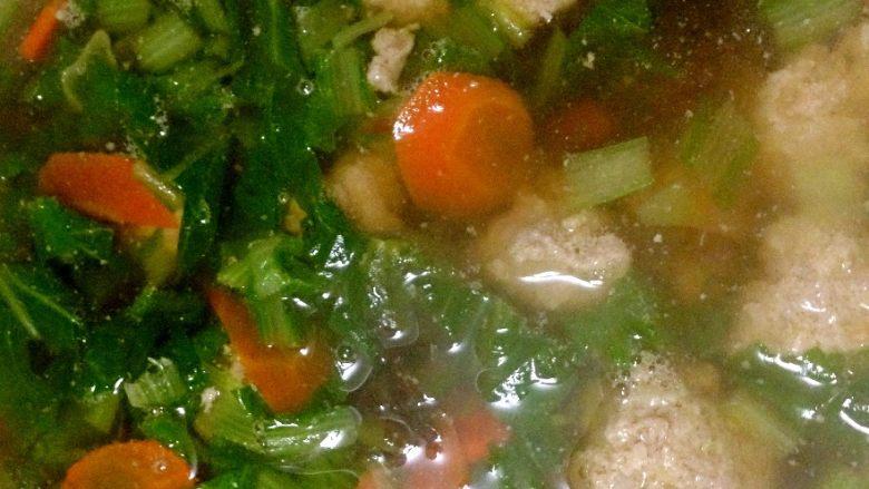 小白菜肉丸子汤