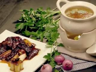 传统葱烧海参&乌鱼蛋汤