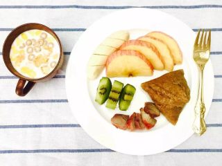 30天不重复的快手早餐,叉烧粽子