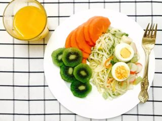 30天不重复的快手早餐,蔬菜面