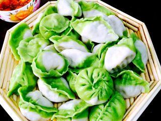 翡翠白玉海鲜韭菜饺子#春意绿#